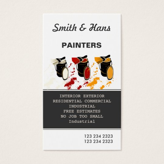 Professional House Painter Painting Business Card