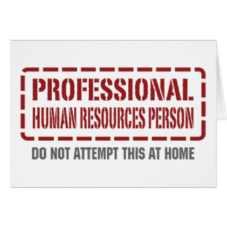 Professional Human Resources Person Greeting Card
