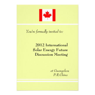 Professional international business meeting personalized announcements