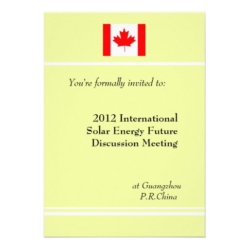 Professional, international business meeting personalized announcements