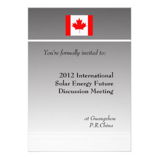 professional, international business meeting personalized invitations