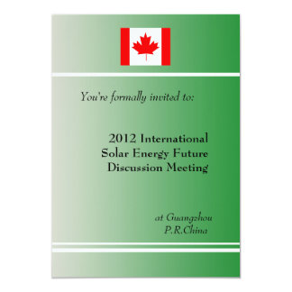 "professional, international business meeting 5"" x 7"" invitation card"
