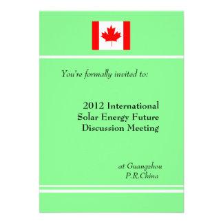 Professional international business meeting personalized invitation