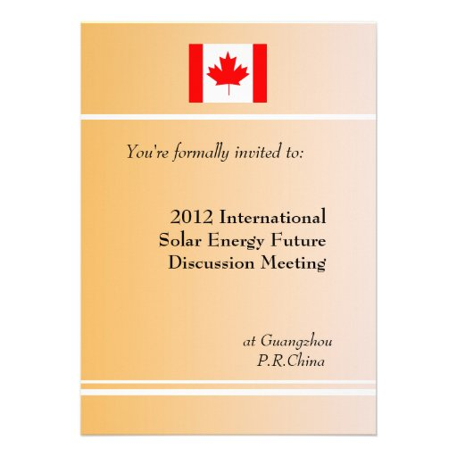 Professional, international business meeting announcements
