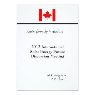 Professional, international business meeting 13 cm x 18 cm invitation card
