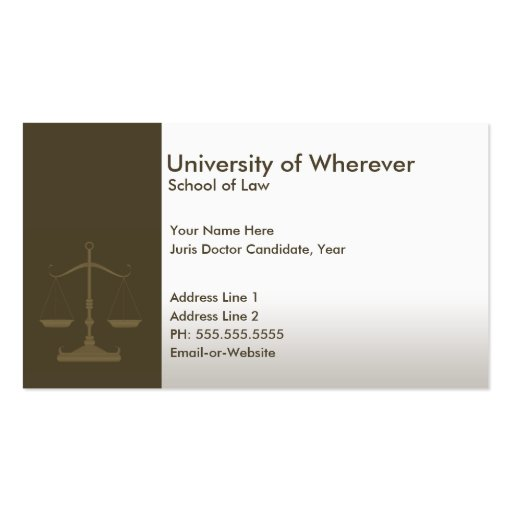 Create your own doctor business cards page13 professional justice law student business card templates reheart Gallery