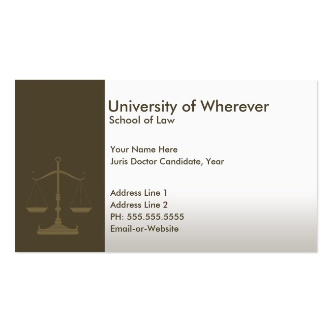Professional justice law student business card templates wajeb Images