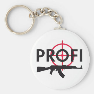 professional killer basic round button key ring