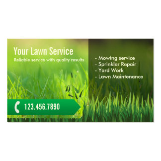 Professional Lawn Care & Landscaping Pack Of Standard Business Cards