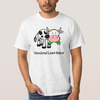 Professional Lawn Moo-er Cow Tshirt