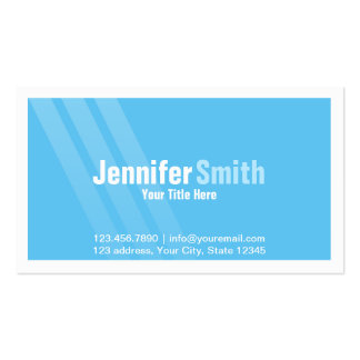 Professional Light Blue With Stripes and Frame Pack Of Standard Business Cards