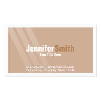Professional Light Brown With Stripes and Frame Pack Of Standard Business Cards