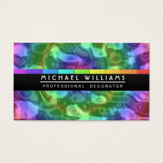 PROFESSIONAL LIQUID METAL COLORS HOLOGRAM BUSINESS CARD
