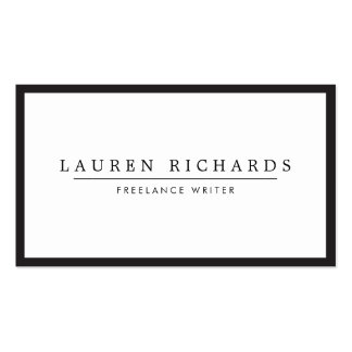 Professional Luxe Black and White Business Card