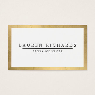 Professional Luxe Faux Gold and White Business Card