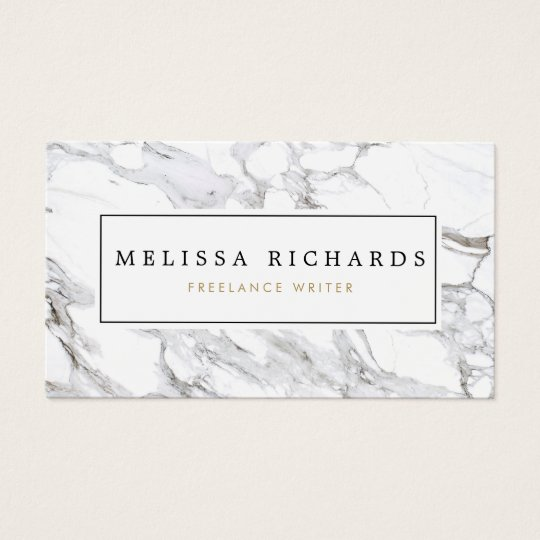 Professional Luxe White Marble Business Card