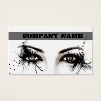 Professional Make-Up Artist / Makeup Model Face Business Card