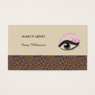Professional Makeup Artist Business Card