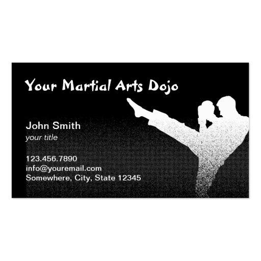 Professional Martial Arts Dojo Business Cards