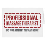 Professional Massage Therapist Greeting Cards