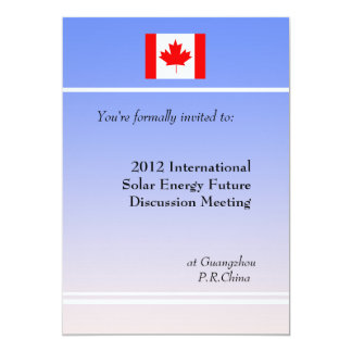 Professional meeting  invitation. 13 cm x 18 cm invitation card