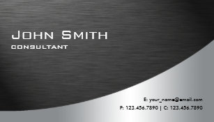 Metallic business cards zazzle uk professional metal elegant modern plain black business card reheart Images