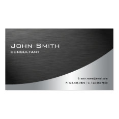 Professional Metal Elegant Modern Plain Black Double-Sided Standard Business Cards (Pack Of 100) at Zazzle