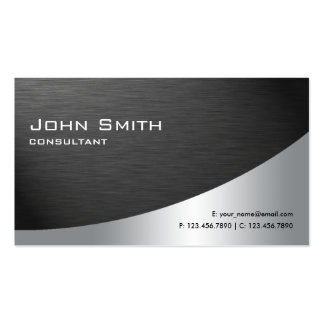 Professional Metal Elegant Modern Plain Black Pack Of Standard Business Cards