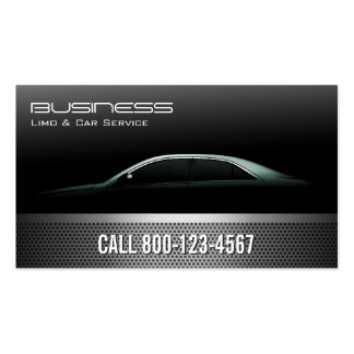 Professional Metallic Limo & Taxi Service Double-Sided Standard Business Cards (Pack Of 100)