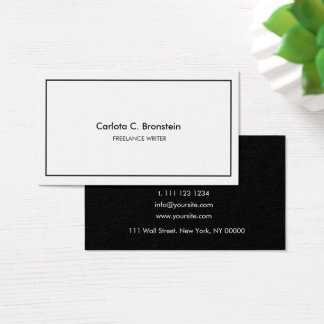 Professional Minimalist Black&White Business Card