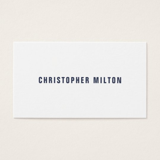 Professional Minimalist -Blue White Consultant Business Card