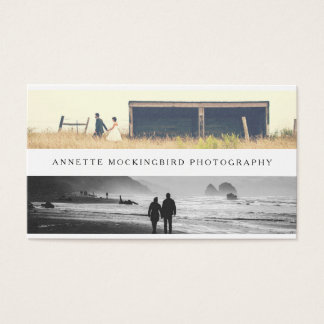 Professional Minimalist Photography | Two Photo Business Card