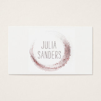 Professional Minimalist Professional Rose Gold Business Card