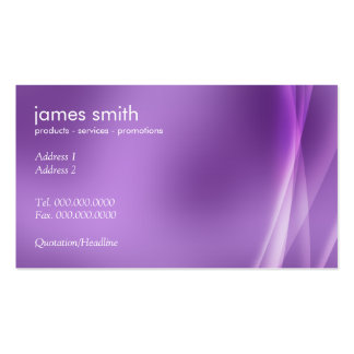 Professional Modern Abstract Purple Pack Of Standard Business Cards