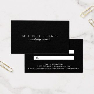 Professional Modern Black Appointment Business Card