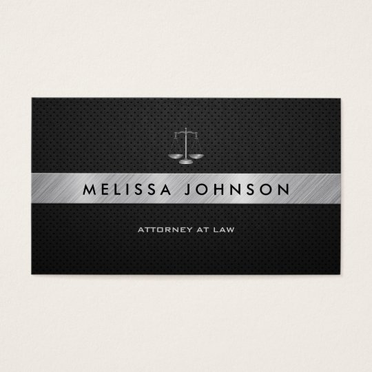 Professional & Modern Black & Silver Attorney Business