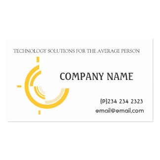 Professional Modern  Business Hi-Tech Tri on White Pack Of Standard Business Cards