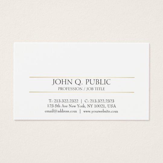 Professional Modern Clean Plain Gold White Design Business
