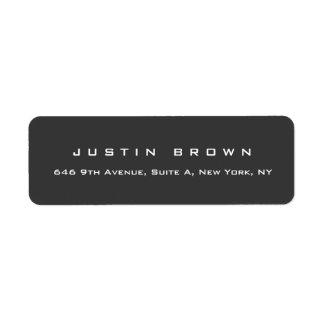 Professional Modern Elegant Plain Grey Return Address Label