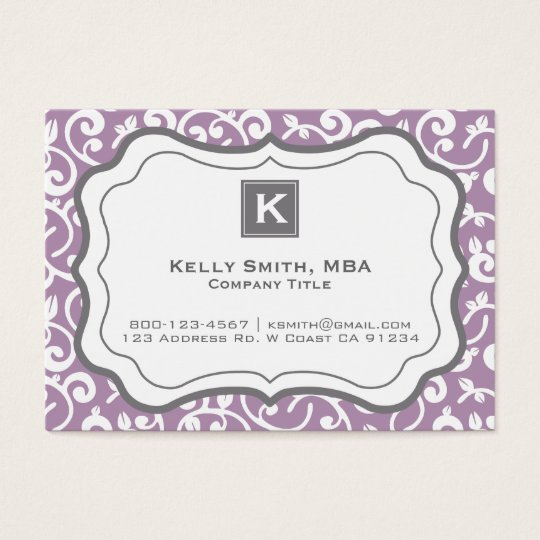 Professional Modern Floral Fashion Business Business Card