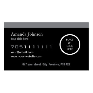 Professional Modern Grey Business Card