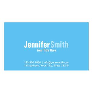 Professional Modern Light Blue Plain Business Card