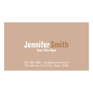 Professional Modern Light Brown Plain Cards Pack Of Standard Business Cards