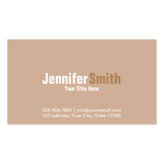 Professional Modern Light Brown Plain Cards Pack Of Standard Business Cards