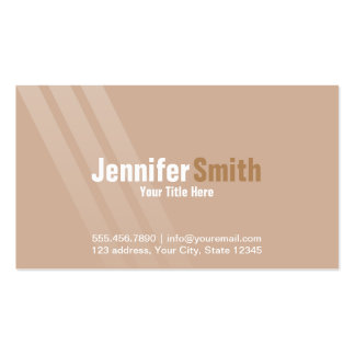 Professional Modern Light Brown With Stripes Pack Of Standard Business Cards
