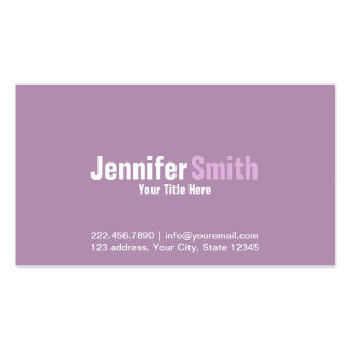 Professional Modern Light Purple Plain Cards Pack Of Standard Business Cards