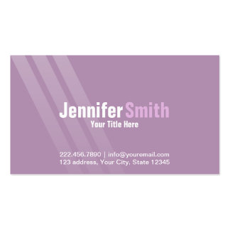 Professional Modern Light Purple With Stripes Pack Of Standard Business Cards