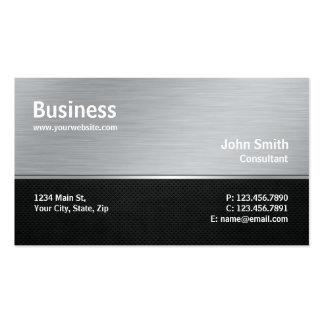 Professional Modern Metal Silver Computer Repair Pack Of Standard Business Cards