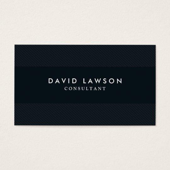 Professional Modern Minimalist Black Business Card
