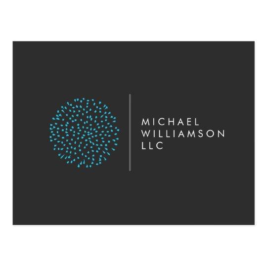 Professional Modern Particles Dots Blue Logo Postcard